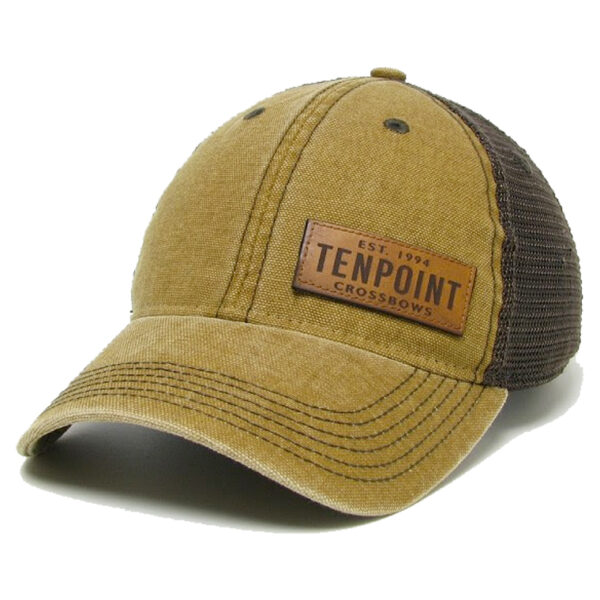 TenPoint Tan/Leather Patch Hat